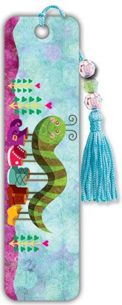 Caterpillar - Beaded Bookmark
