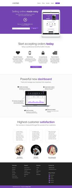 Ascend – Free E-Commerce Service Template (PSD)