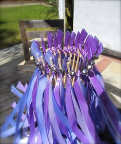 50 Wedding Wands, CUSTOM COLORS to match your wedding, 3 satin ribbons, with bell, Send off, Nautical Wedding, Boat Wedding, Beach Wedding