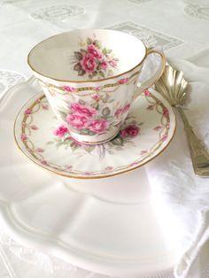 Vintage English Bone China Duchess Teacup and by MariasFarmhouse