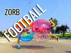We've been playing football since kindergarten because it was fun. But add to that Bubble Ball costumes and Zorb Football becomes absurdly hilarious ... http://www.zorbingtime.com/zorb-football/