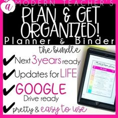 off ShortTIME Editable Teacher Planner. by A Modern Teacher Guided Reading Lesson Plans, Math Lesson Plans, Lesson Plan Templates, Teacher Binder, Teacher Planner, Teacher Stuff, Parent Teacher Conference Forms, Classroom Volunteer, Writing Conferences