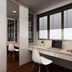 This 4-room HDB apartment is an excellent example of how subtle mix and match can be. What is interesting about the interior is that the designer opts for more modern flooring materials in the dining room, such as tiles, but still sticks to parquet in...