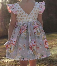 One button back dress