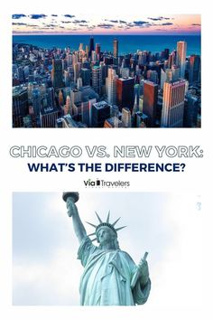 Looking to travel to two of the most cultural cities in the United States but don't know the difference or what is better. We've compiled a full comparison guide of Chicago vs New York, include who has the better skyline, pizza and so much more. Usa Travel Guide, Travel Usa, Travel Guides, North America Destinations, Travel Destinations, Us Road Trip, United States Travel, Where To Go, Cool Places To Visit