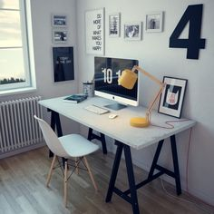 Workplace by Denis Khramov, via Behance