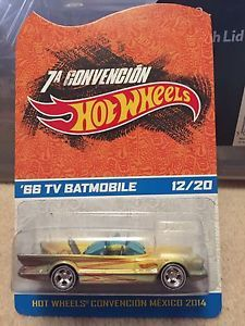 Hot wheels 1966 Batmobile - 2014 Mexico Convention No.12 of only 20