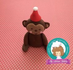 Monkey fondant cake toppers by My Artisan Bakery