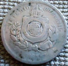 moedas brasileiras antigas - 100 e 200 réis - 1893