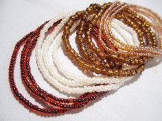 4 sets of 3 bracelets Beaded Bracelets Seed Bead by ATLanyards