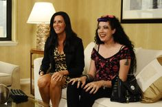 Still of Patti Stanger and Rachel Federoff in Millionaire Matchmaker