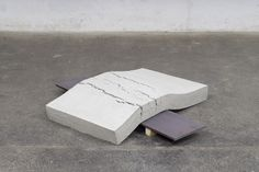 Christoph Weber, Not yet titled, Concrete, steel, wood Julien Lacroix, Texture, Concrete, Steel, Wood, Home Decor, Twitter, Sculpture, Pirates