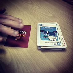 Down to the last card tense game #explodingkittens #gamegeek