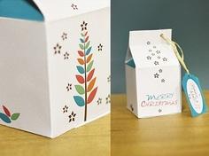 Caja regalo de Navidad | Descargas Gratis para Imprimir: Papiroflexia, Tarjetas de Cumpleaños, Manualidades, adornos Navidad, Deco. Imprimibles gratis de papel .Freebies.