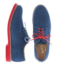 Walk-Over  - Blue suede with unmatched shoelaces. Dope.