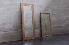 espejos con marco de madera | diseño | moderna | minimalista
