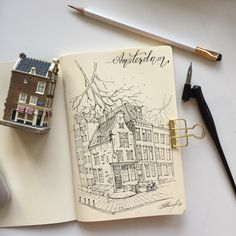 Sketch Amsterdam sketchbook  by artvalerim