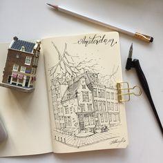 Sketch Amsterdam sketchbook  by artvalerim
