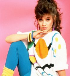 ALYSSA MILANO - I had to pin this not because of this actress, but because of what she is wearing! I totally would wear this exact same type outfit!!! The earrings, the sweater, the leggings, the socks!!! TOTALLY