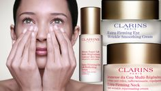 Clarins Extra-Firming Eye Serum and Cream and Neck Cream