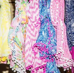 Lilly Pulitzer for Target collaboration - pom pom scarves! AHH!