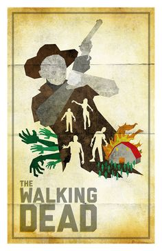 "The Walking Dead poster by 845studio on Etsy, $10.00. Save 10% on entire purchase at 84/5 Studio with the code ""thanks10off"" at checkout. (can only be used with items in 84/5 Studio shop). http://www.etsy.com/shop/845studio"