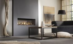State of the art design with a myriad of possibilities. DRU Metro is the original template for contemporary hole-in-the-wall gas fires Home Fireplace, Living Room With Fireplace, Fireplace Surrounds, Fireplace Design, Living Room Decor, Fireplace Tools, Fireplace Ideas, Foyer Mural, Wall Gas Fires