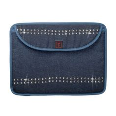 Jeans & Crystals Flap Sleeve Macbook Pro © crazycolors' store on Zazzle!