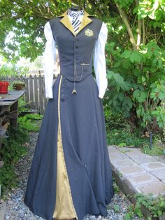 Steampunk Hufflepuff - Dragonfly Designs by Alisa--She is wearing this to Steamcon