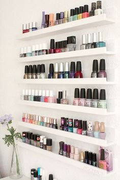 Ikea RIBBA shelves for bail polish (I would need another room in the house in order to do this)