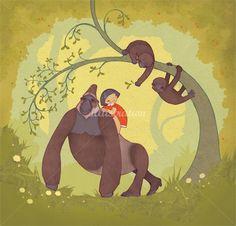 Alexandra Ball: mountain gorilla illustration