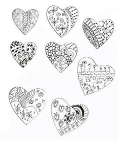 Heart designs with sharpies