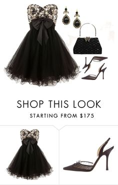 """""""Short Prom Dress"""" by deborah-calton ❤ liked on Polyvore featuring Ruby Prom and Jimmy Choo"""