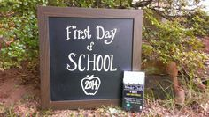 First day of school chalkboard sign using Wonder Chalk liquid chalk markers!  Markers available on Amazon! http://www.amazon.com/gp/product/B00LZJ2W06/?ie=UTF8&keywords=white+liquid+chalk+markers