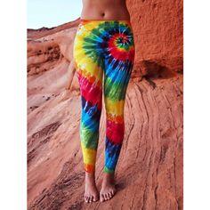 Tie Dye Rainbow Yoga Legging Tye Dye Dance Fitness Tights ($35) ❤ liked on Polyvore featuring activewear, activewear pants, grey, pants, women's clothing and yoga activewear