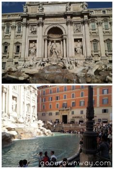Trevi Fountain {Rome itinerary}