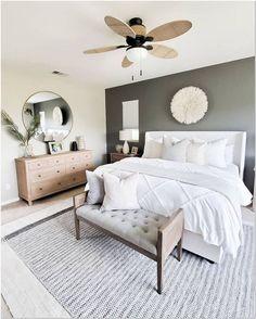 Bedroom Decor Master For Couples, Grey Bedroom Decor, Master Bedroom Design, Home Bedroom, Modern Bedroom, Master Suite, Master Bedrooms, Bedroom Boys, Bedroom Mirrors
