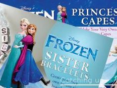 DIY Disney's Frozen Princess Costume Capes and Crafts