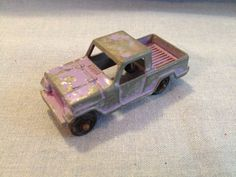 Original RARE Vintage Tootsie Toy PURPLE 1950s FORD PICKUP TRUCK - 3' LONG #TootsieToy #Ford