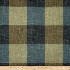 Robert Allen Promo Nags Head Check Ocean from @fabricdotcom  Refresh and modernize an old piece of furniture and update it with a new look. This yarn dyed woven fabric is appropriate for accent pillows, draperies and upholstering  headboards. Colors include blue, navy, brown and stone.