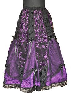 Goth Victorian Purple Skirt  ✿ Rayvin Nyte ✿  Enchanting & Enhancing Your Life! www.MagicallyManifestMoney.com