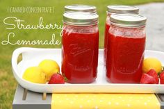 Canned Strawberry Lemonade Concentrate