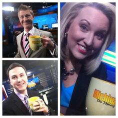 CHEERS from the Michigan this Morning Anchor desk. Happy Monday! Thanks for wakin' up early with our crew! 9&10 Evan Dean 9&10/Fox32 Morning Meteorologist Michael Stevens 5.5.14