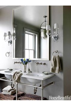 Whether you have a powder room, master bath, or ensuite, these bathroom design pictures will inspire you when you spruce up your own bathroom. Best Bathroom Designs, Bathroom Design Small, Bathroom Ideas, Bathroom Organization, Bathroom Storage, Washroom, Organization Ideas, Storage Ideas, Boy Bathroom