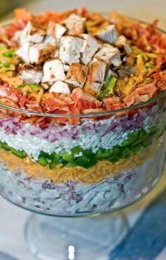 Seven Layer Salad (Low Carb)  Recipe courtesy George Stella       Facebook: Low Carbing Among Friends