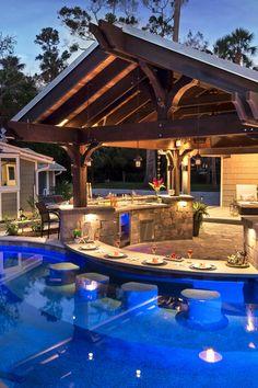 Small Backyard Pools, Small Indoor Pool, Backyard Pool Landscaping, Backyard Patio Designs, Swimming Pools Backyard, Swimming Pool Designs, Outdoor Pool, Backyard Ideas, Pool At Night