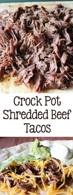 Crock Pot Shredded Beef Tacos Crock Pot Shredded Beef Tacos Crock Pot Shredded Beef Tacos - Everyday Made Fresh<br> Slightly spicy chuck roast, slow cooked in the crock pot, then shredded for the best Crock Pot Shredded Beef Tacos, perfect for a crowd. Crockpot Shredded Beef, Crockpot Beef Tacos, Crock Pot Tacos, Shredded Beef Recipes, Shredded Beef Burritos, Mexican Shredded Beef, Crock Pot Beef, Crockpot Taco Meat, Crockpot Lunch