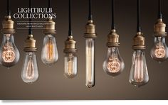 Restoration Hardware Lightbulb Collections - Currently have around 16 old-fashioned reproduction filament style lightbulbs that add the perfect final touch to a vintage lamp project.