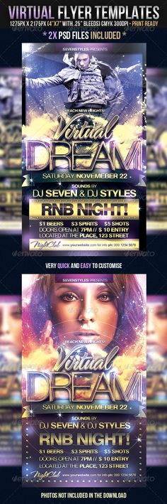 """Virtual Flyer Templates  #GraphicRiver         Virtual Flyer Templates   2x PSD files included   The photos used in the preview are not included in the download. They are purchased stock images, contact me if you would like info on them.   The PSD files are setup at 1275px x 2175px (4×7"""" with .25"""" bleeds) CMYK 300DPI   The PSD files are very well organized, with color coded groups and layers named appropriately.   The main folders that will require most customization are highlighted in…"""