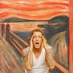 Image uploaded by Bellus Culpa. Find images and videos about art, rap and eminem on We Heart It - the app to get lost in what you love. Eminem Funny, Eminem Memes, Eminem Rap, Disney Marvel, Marshall Eminem, Eminem Wallpapers, Eminem Photos, The Real Slim Shady, Eminem Slim Shady